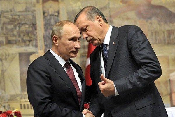 اردوغان درباره همکاری مشترک در خصوص سوریه با پوتین گفتگو می کند