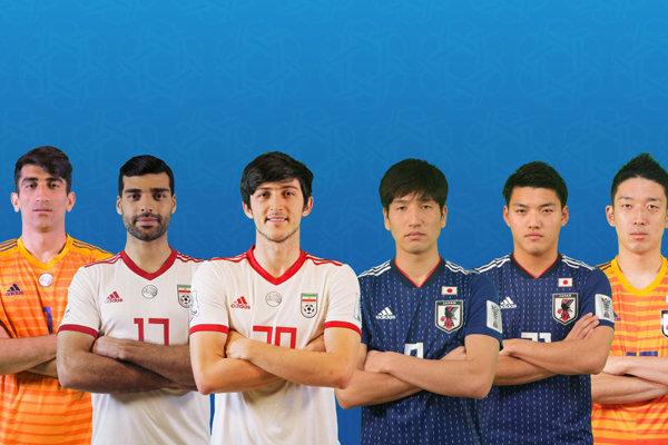 گزارش آماری AFC از تقابل تیمهای ملی فوتبال ایران و ژاپن