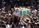 برگزاری مراسم تشییع شهدای مدافع حریم امنیت
