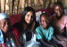 بازیگر هندی در نشست جهانی زنان سخنرانی میکند