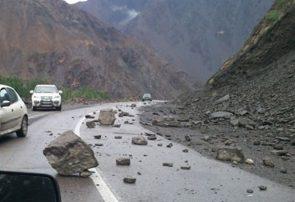 محور هراز به دلیل ریزش کوه مسدود شد