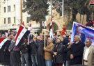 ادامه تجمعات مردم سوریه در محکومیت تصمیم ترامپ؛ جولان به آغوش وطن باز میگردد