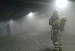 حریق در مجتمع تجاری لالهزار/انبار لوازم الکتریکی در آتش سوخت