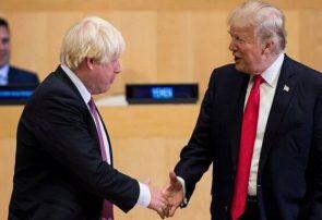 پیگیری توافق تجارت آزاد انگلیس و آمریکا توسط ترامپ و جانسون