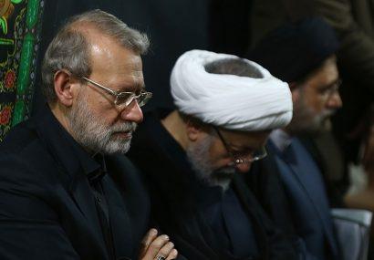 حضور لاریجانی در مراسم عزاداری سالار شهیدان