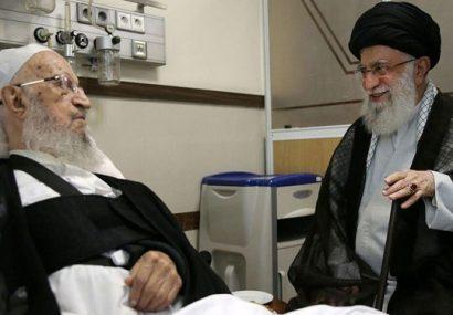 عیادت رهبر از مکارم شیرازی