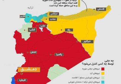 اینفوگرافی؛ترکیه به کدام مناطق سوریه حمله کرد؟