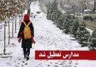 بارش برف مدارس سراسر استان کردستان را به تعطیلی کشاند