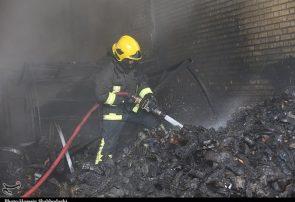 وقوع آتش سوزی در ساختمان شیشهای صداوسیما