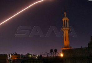 مقابله پدافند هوایی ارتش سوریه با حمله اسرائیل به جنوب دمشق