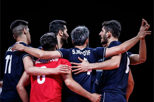 ترکیب بلند قامتان ایران مقابل آمریکا