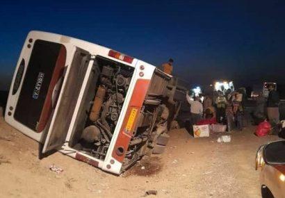 حادثه اتوبوسی با ۲۵ مصدوم در قم