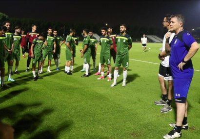 دومین تمرین تیم ملی زیر نظر اسکوچیچ/ حضور مهدویکیا و عزیزیخادم کنار ملیپوشان