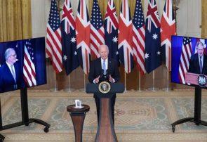 اعلام پیمان دفاعی آمریکا، انگلیس و استرالیا برای مقابله با قدرت چین/واکنش پکن